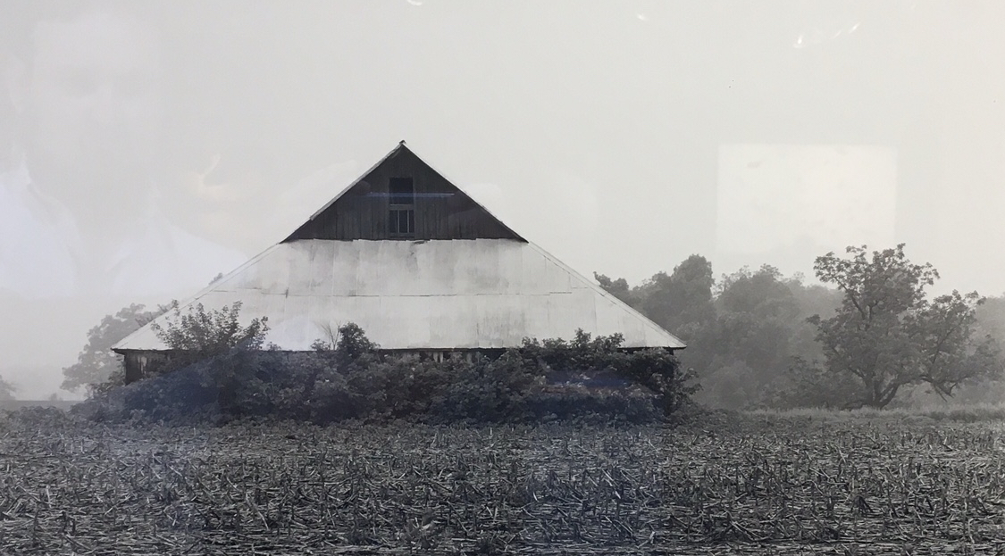 "Jerome Hawkinsw ""Winterset, Iowa"", 1993 black and white photograph, print #1 21 1/4"" X 29 1/8"""