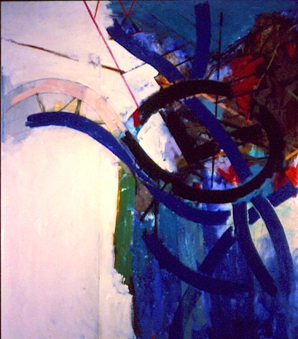 "Salveson, Doug  (BIO)   Rock Shelter,   1998 on canvas 43 1/4 "" x 37 1/8"""