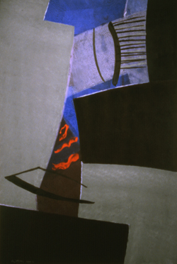 "De Looper, Willem  (BIO)    Untitled,  1997 acrylic on board 60 1/2"" x  40 1/8"""