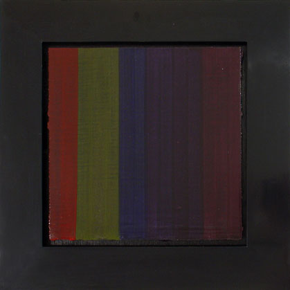 """Francisca Sutil, """"Spaces,"""" 1998 pigmented gesso and oil on linen mounted on wood 18"""" x 18"""""""