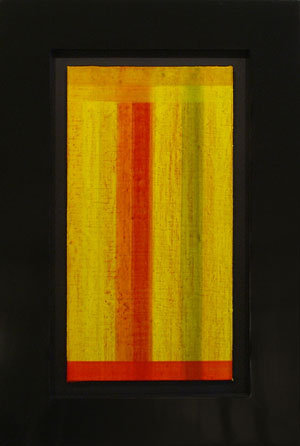 """Fransisca Sutil """"Interludio #12,"""" 2008 pigmented gesso and oil on linen mounted on wood 22 3/8 x 15"""""""