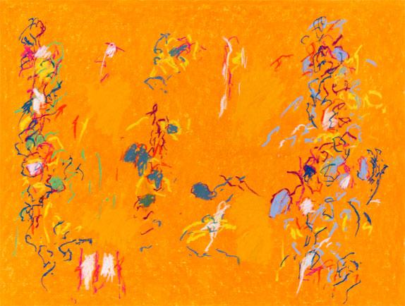 "Fredrick Nelson ""Music Box Suite,"" 2013 pastel on rag 29 1/2"" x 37 1/8"""