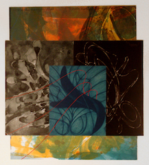 "Steven Sorman ""difference in ages xxviii,"" 1998 monoprint 25 14/"" x  33 1/4"""