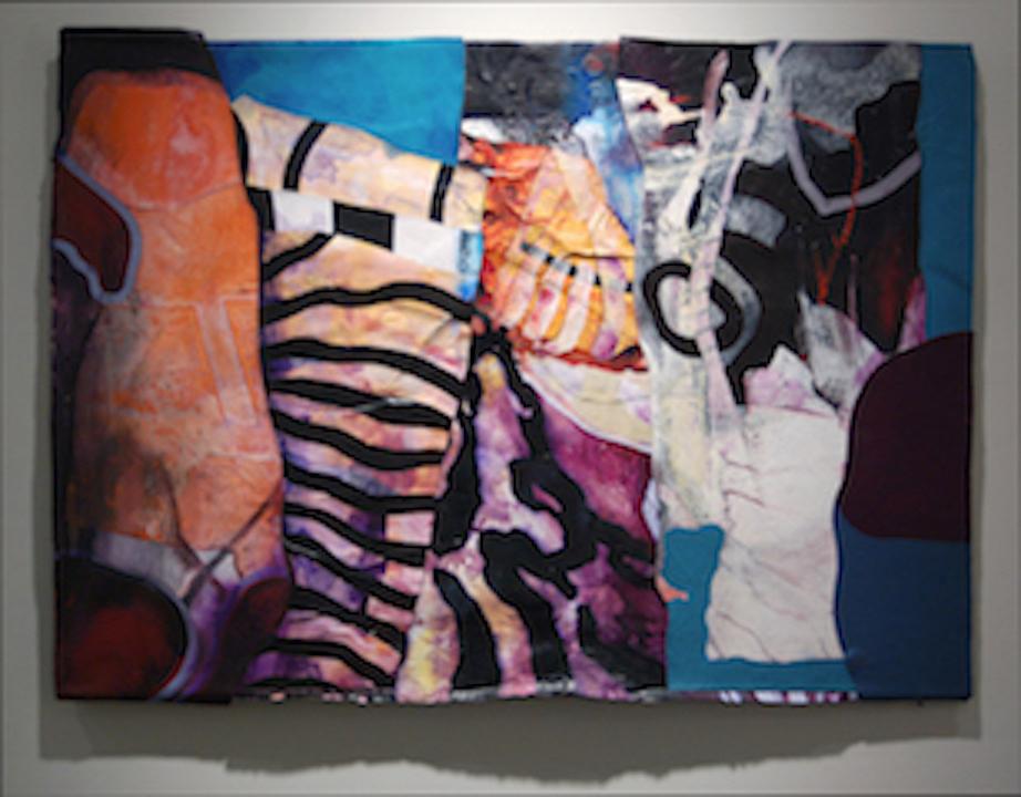 "Kirk Pedersen ""Cavalli,"" 2000 acrylic on canvas 33 1/4 "" x 45 1/8"""