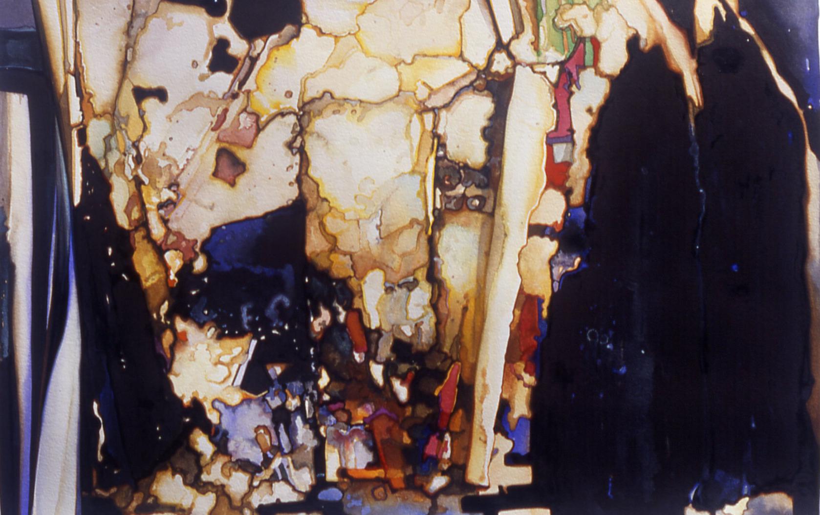 "Kirk Pedersen ""Main Street,"" 2003 watercolor on paper 34"" x 42"""