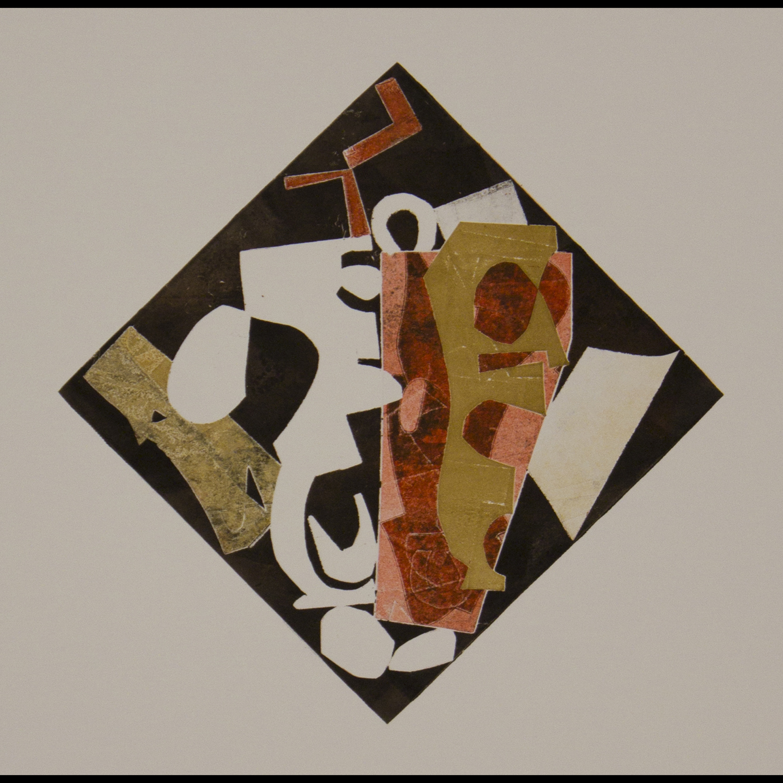 "Michael Marshall ""Variegation # 27"", 2013 monoprint on Rives 20 1/4"" x 16 1/4"""