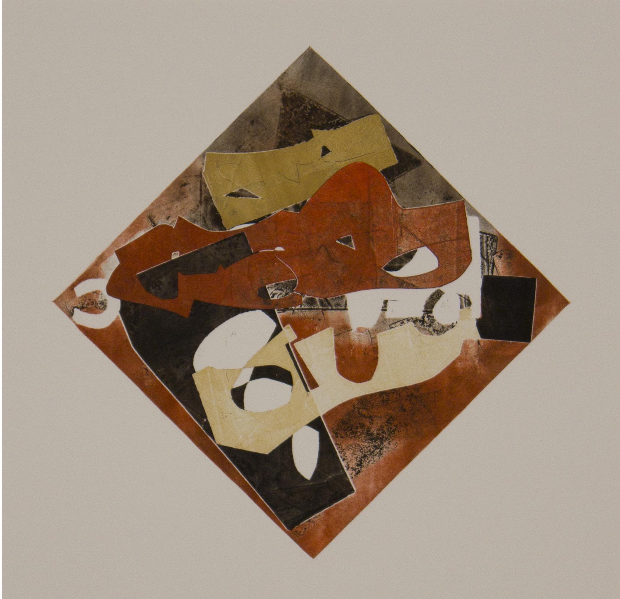 "Michael Marshall ""Variegation #28"", 2013 monoprint on Rives 201/4"" x 16 1/4"""