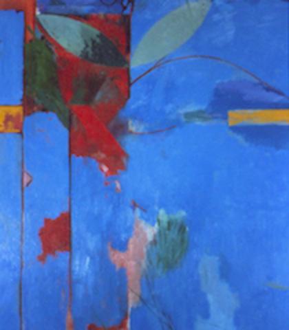 "Doug Salveson ""Garden Wall 180: Bonaire,"" 1993 oil on canvas 49 1/8"" x 43 1/8"""