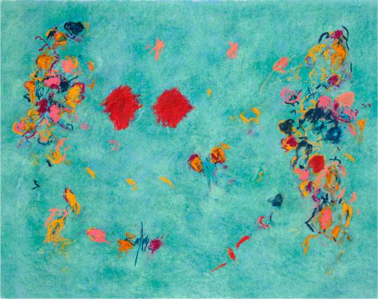"Fredrick Nelson ""Serenity,"" 2012 pastel on rag paper 32 1/4"" x 44 1/4"""