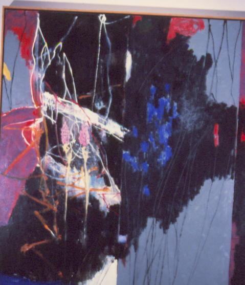 "Doug Salveson ""Moonlight Creek,"" 1998 oil on canvas 491/8"" x 43"""