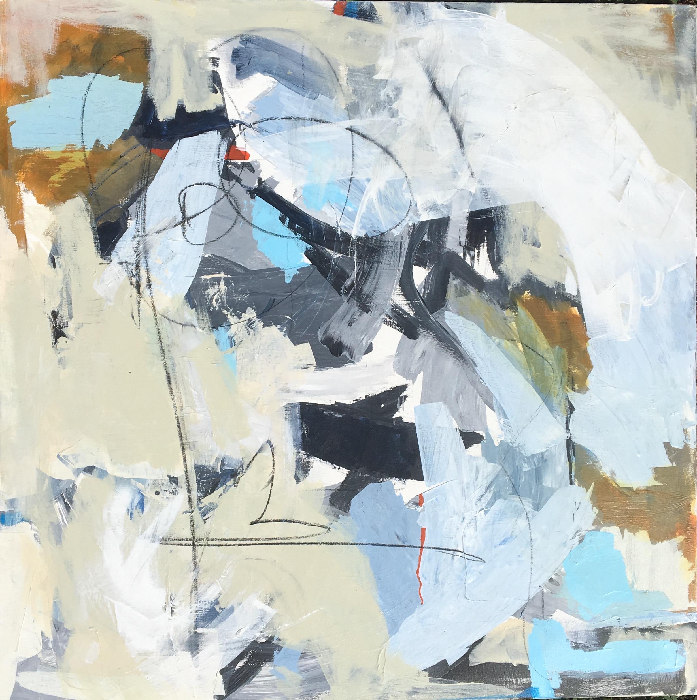 "Caroline Weld, ""Earth,"" 2018  acrylic on canvas  37 1/2"" x 37 1/2"" x 2"""