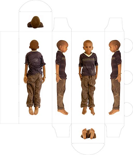 "RUBY RUMIE ""Agustin,"" 2012 ed 2/5 photograph on board 14"" x 5"" x 3"" (folded)"