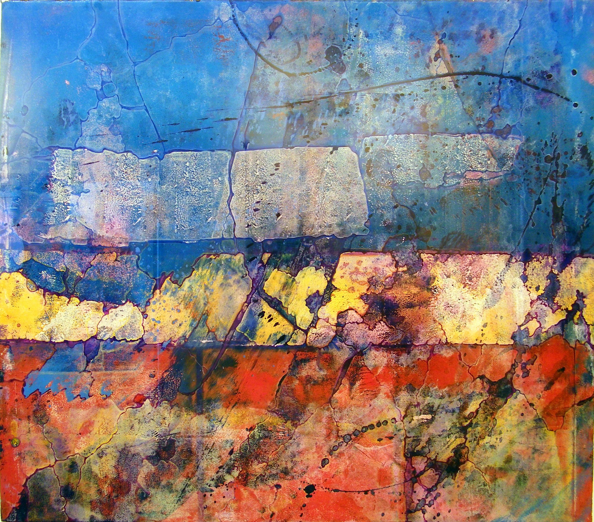 """Kirk Pedersen, """"47th Street,"""" 1990, ink on paper, 26 3/4"""" x 33"""""""