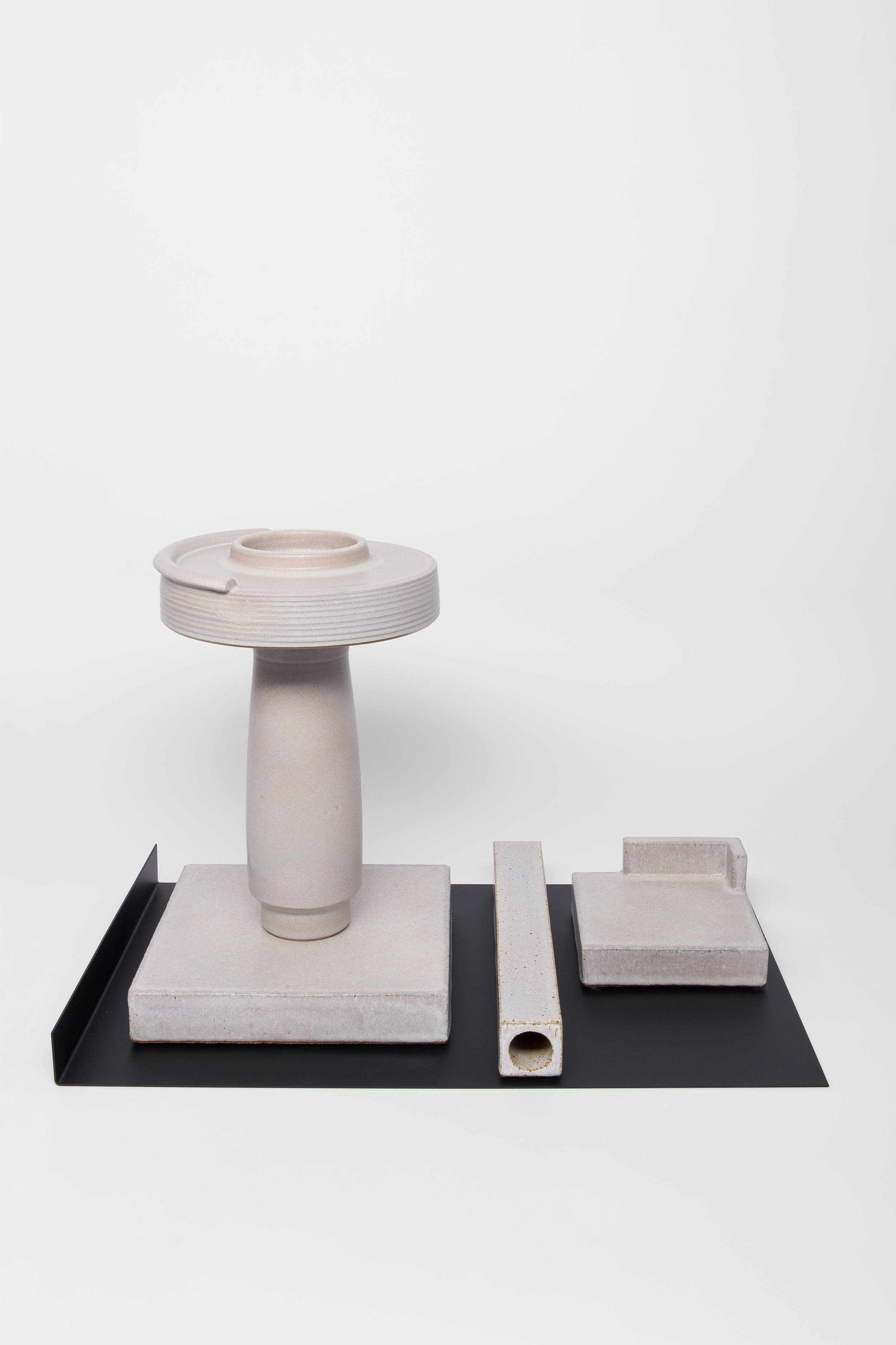 Studio Objects in Grey (w/black tray)
