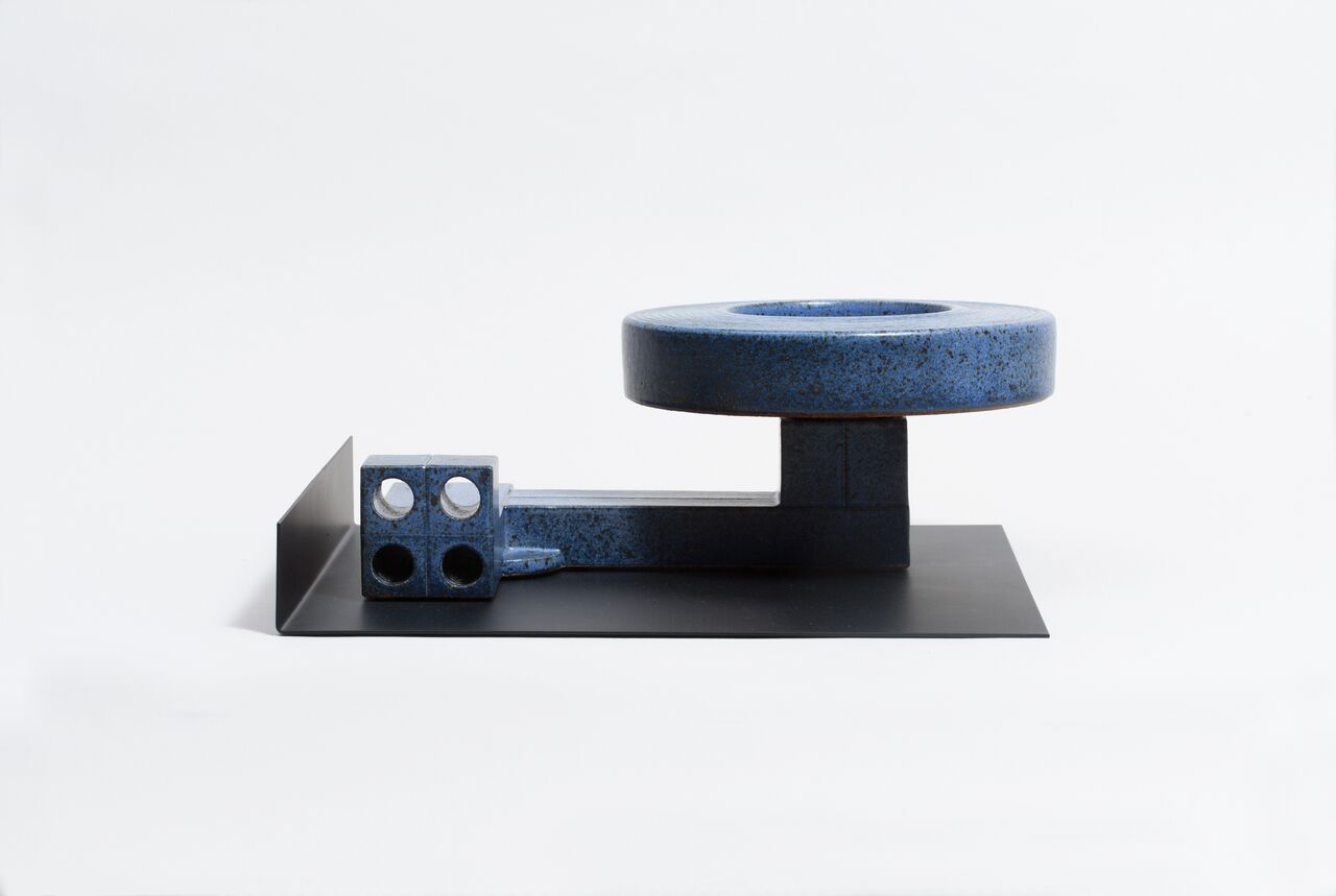 Double Wall Bowl on Extruded Foot (w/Black Tray)