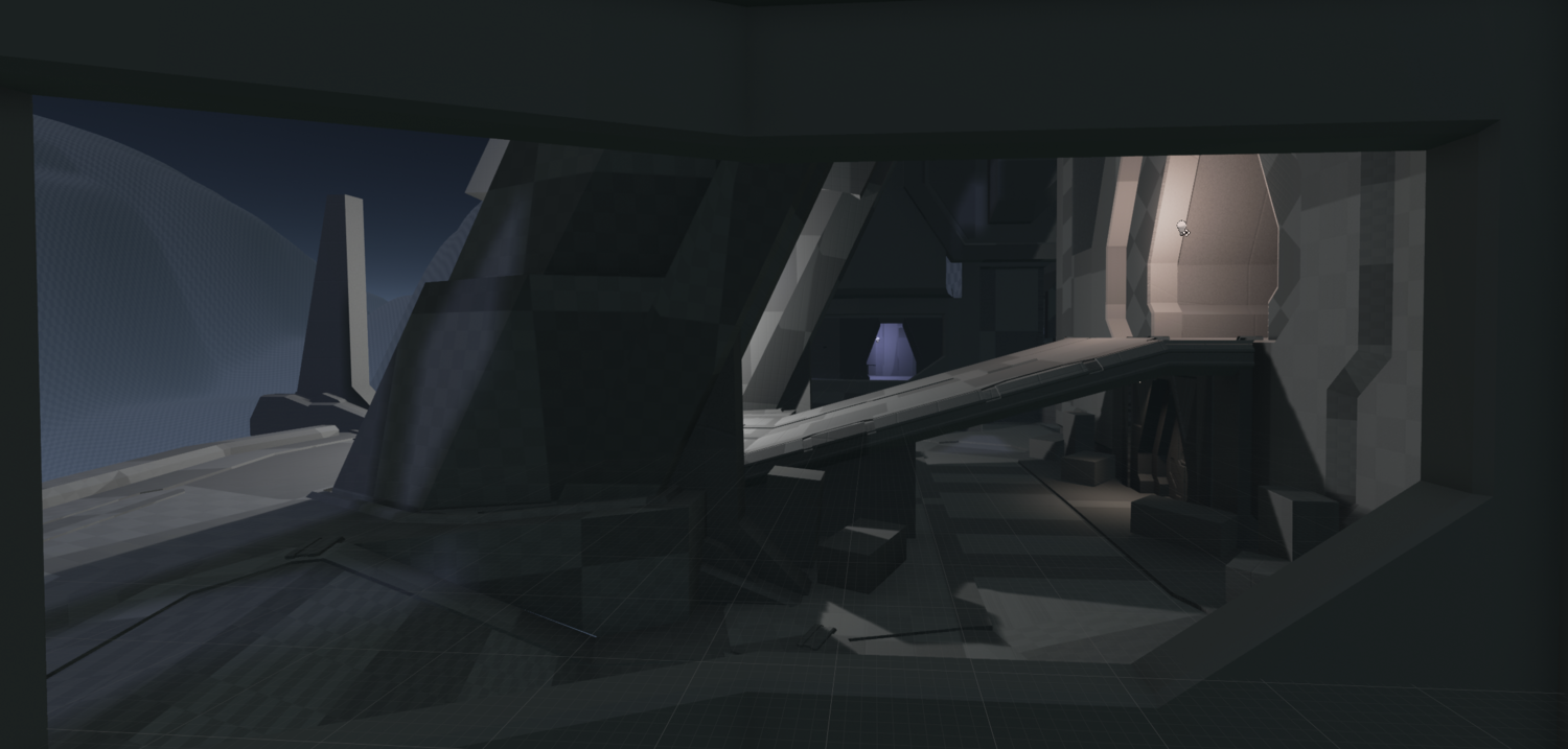 This is actually the geometry I had made in Maya before deciding to make the Halo 4 version of Elevated in forge.
