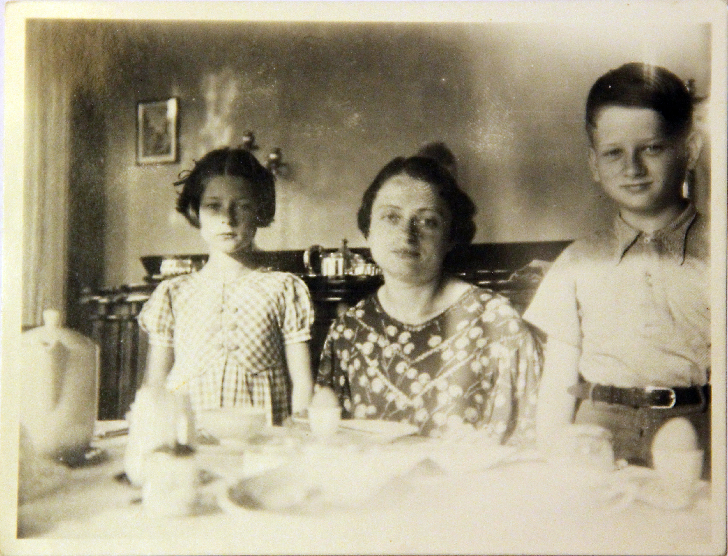Irene, Mutti, and Werner shortly before being rounded up by the police and sent to Camp Westerbork, circa spring 1943.