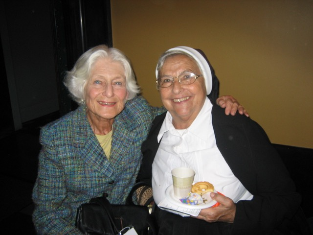 Irene with Sister Luise Radlmeier, 2006 Wallenberg medalist.