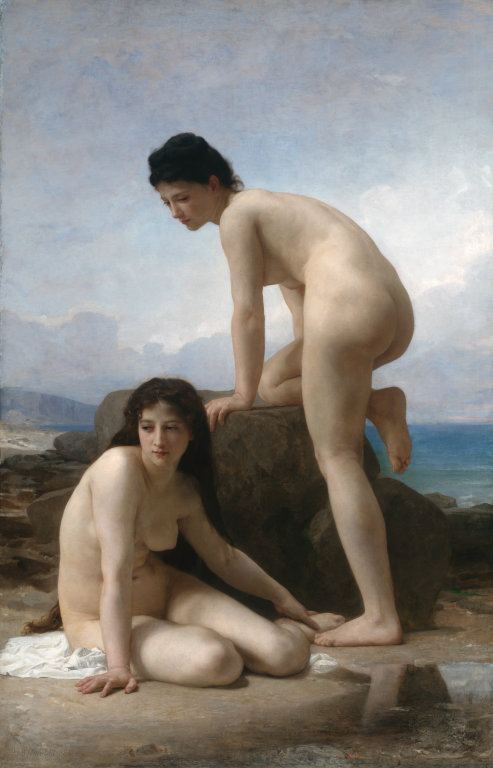 William Adolphe Bouguereau (1825-1905 ): The Bathers  ,  1884