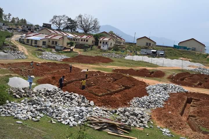 constructing  a teaching hospital in rural Nepal