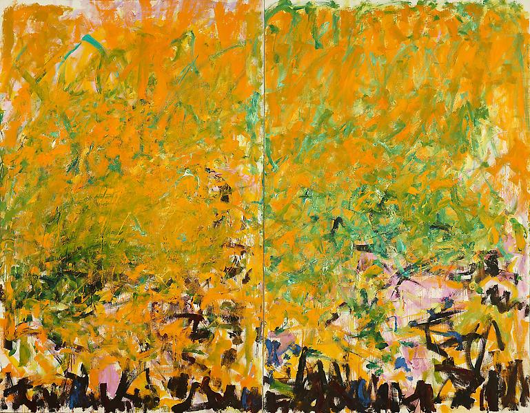 Joan Mitchell,  Two Sunflowers (1980)