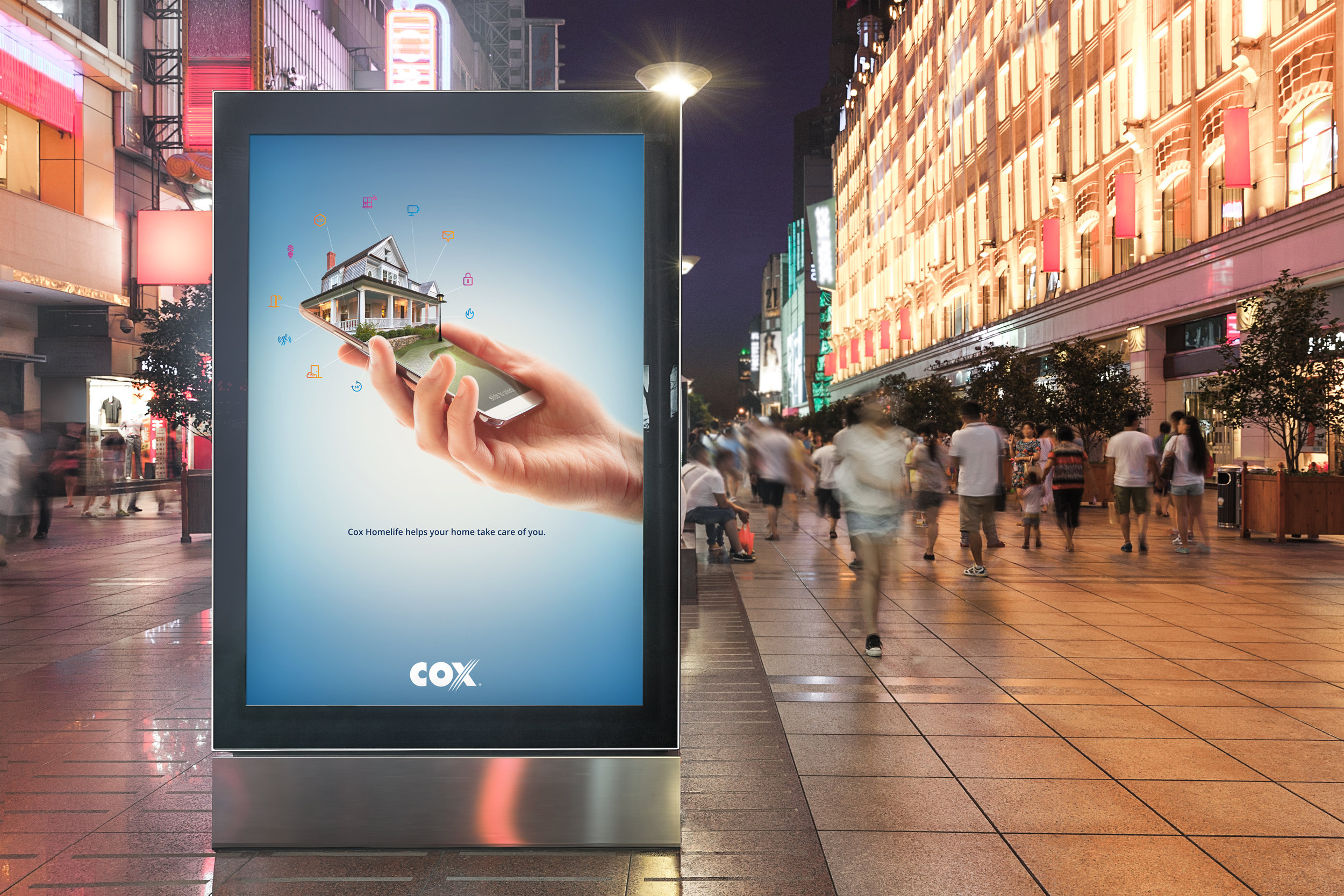This was a print ad that was released to promote our updated app that enabled a new level of home control.