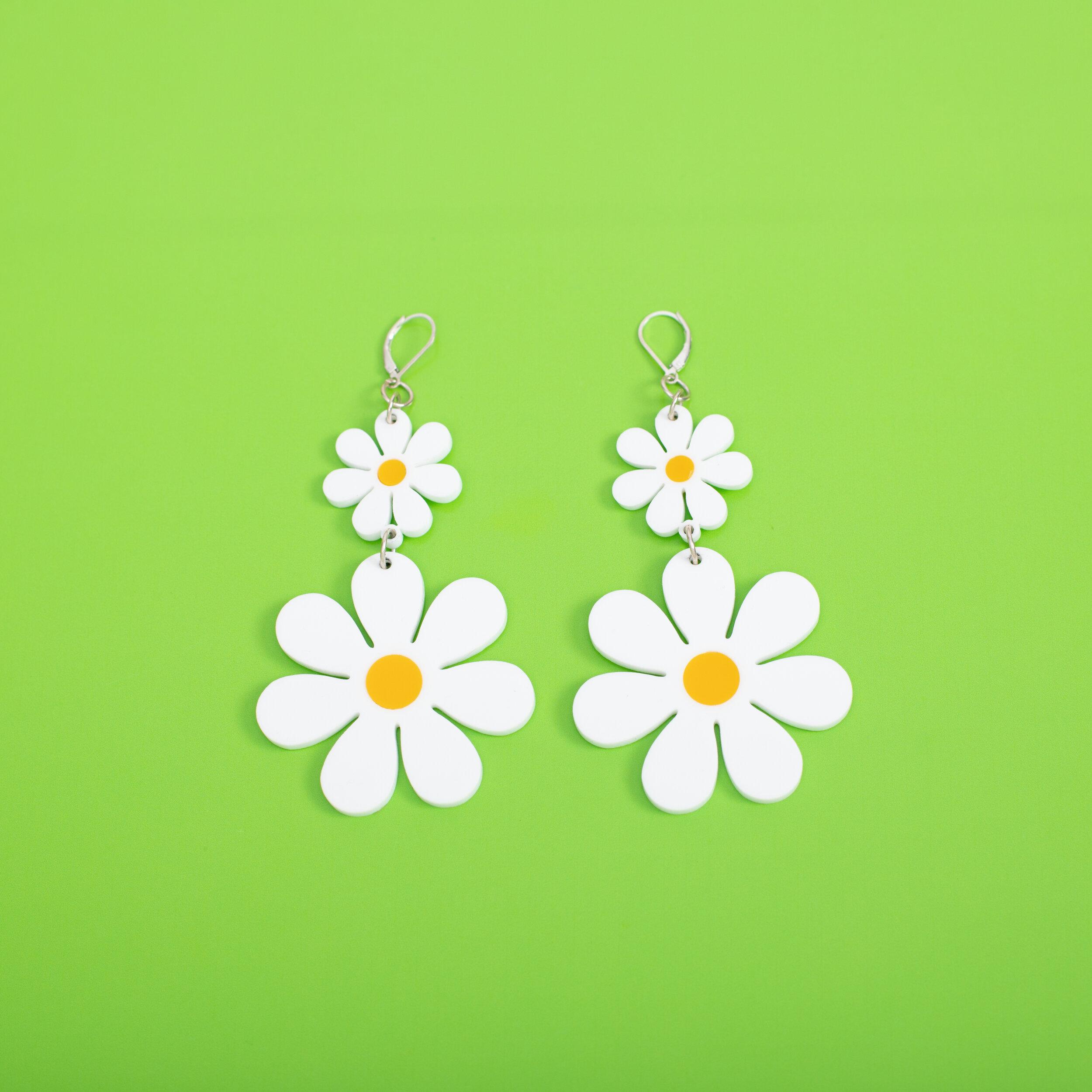 MindFlowers_Double_Daisy_Yellow_White_Dangle_Earrings.jpg