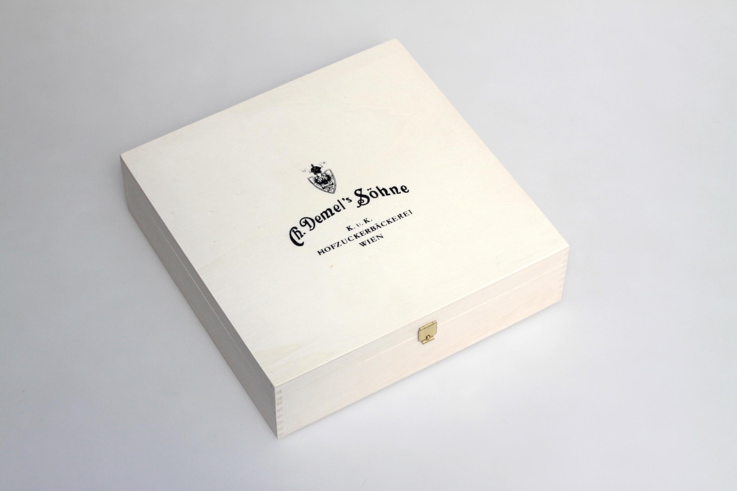 Tortenbox mit Siebdruck