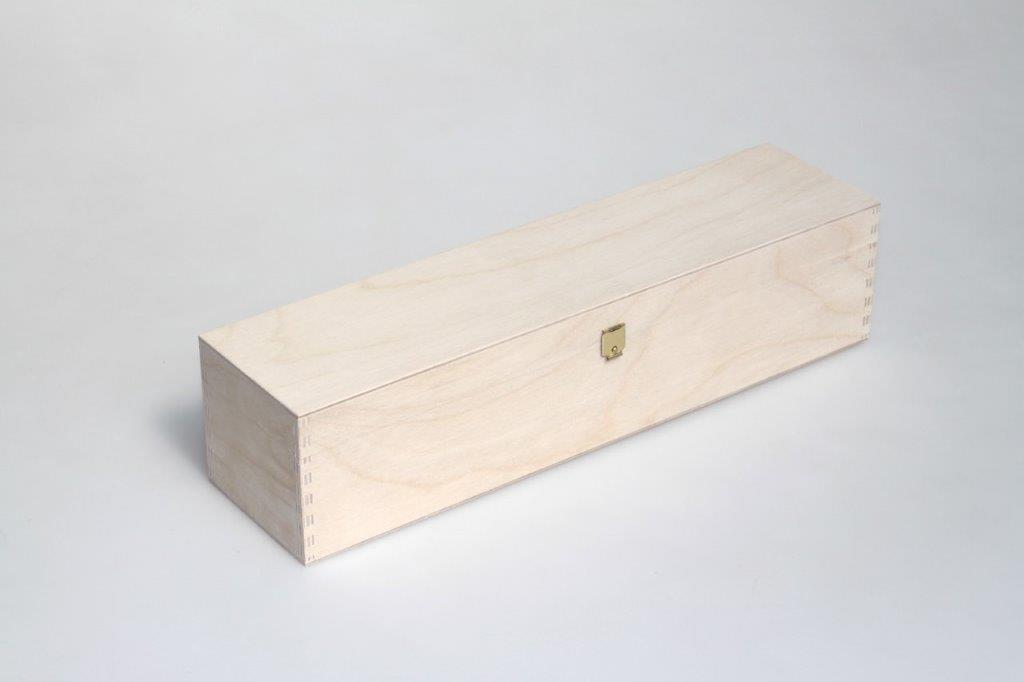- Klappdeckelkiste mit vermessingtem Verschluss ohne Feder (gold)
