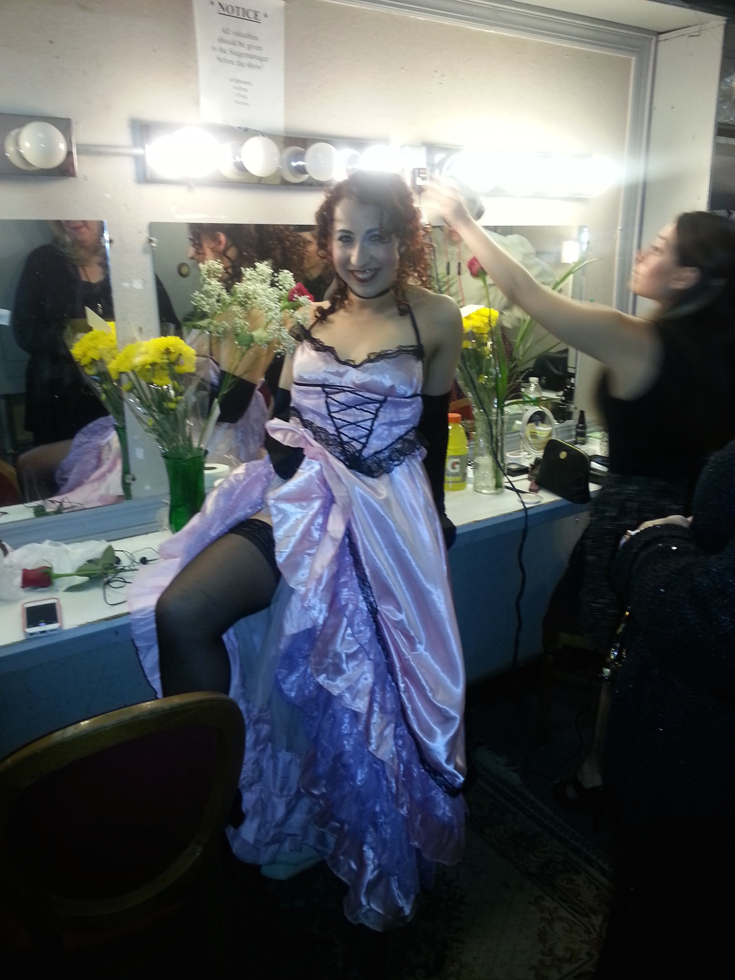 Behind the Scenes: the dressing room of the ATA Chernuchin Theatre. (Click to enlarge.)