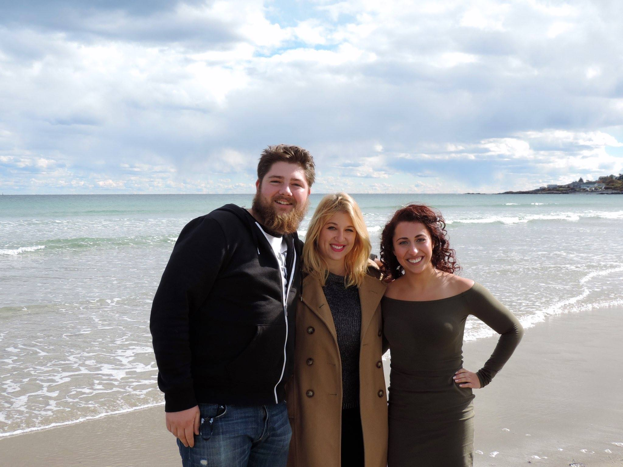 From left to right: key grip Ian Buchanan, director Katie Ennis, and myself after the Filmmakers' Brunch