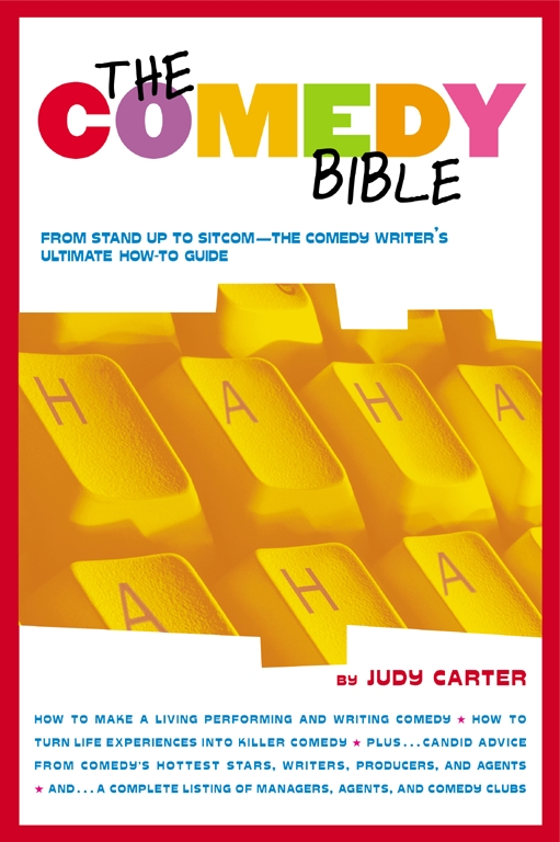 The Comedy Bible, by Judy Carter - In The Comedy Bible, Ms. Carter gives us a 30-day plan to produce a new [and for many of us, our first] 5-minute set.I recommend this book to anyone wanting to learn how to become a comedian. And even those who already are and need some writing help.I consistently find myself referring to some of the lessons for a refresher on writing. Even if I'm feeling great about where I am in developing my act, I'll still flip to various sections to use writing prompts.If you're just starting out, this is a must-read. And even if not, it's easily worth its price to develop another 5 minutes.