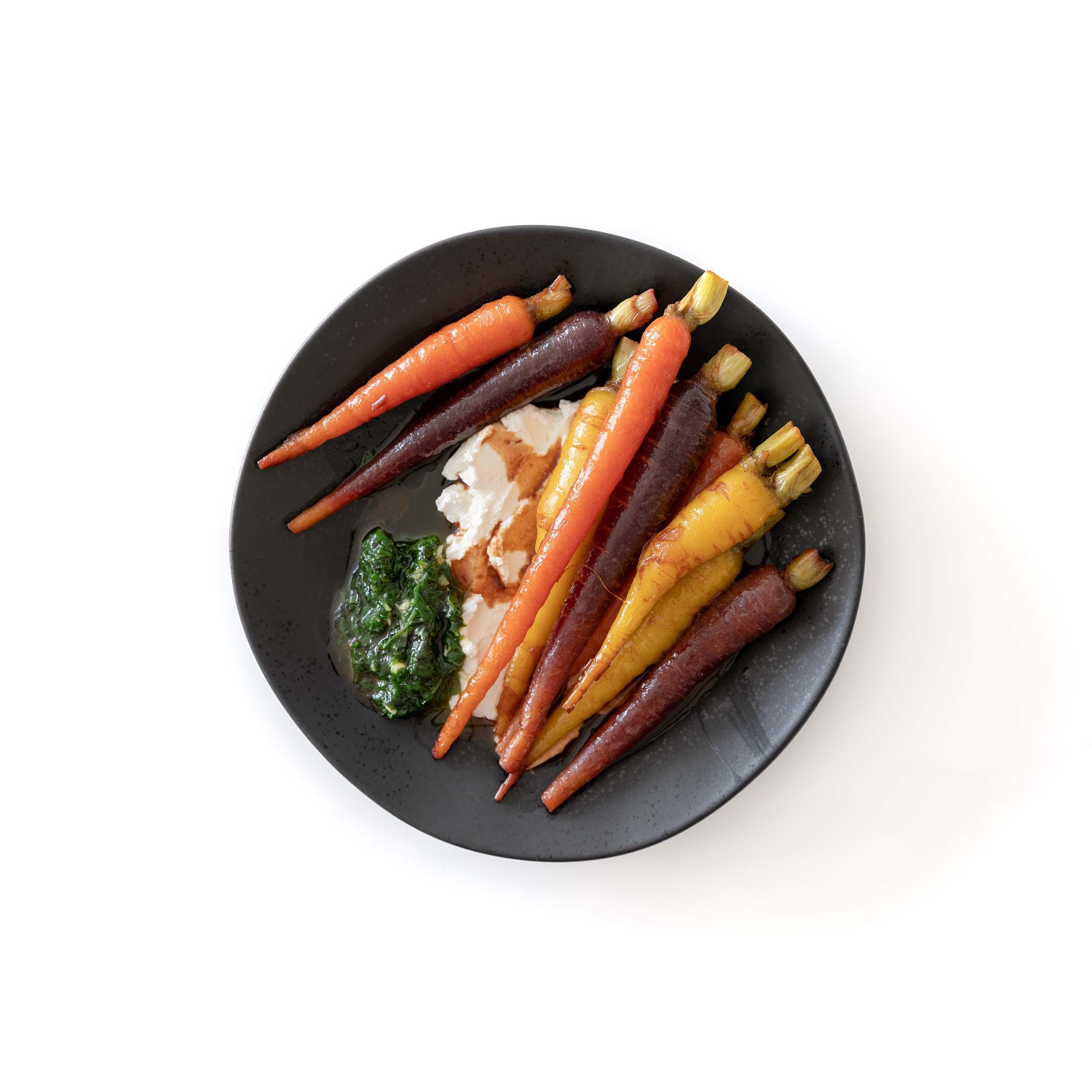 Soy-glazed Carrots w/ Labneh