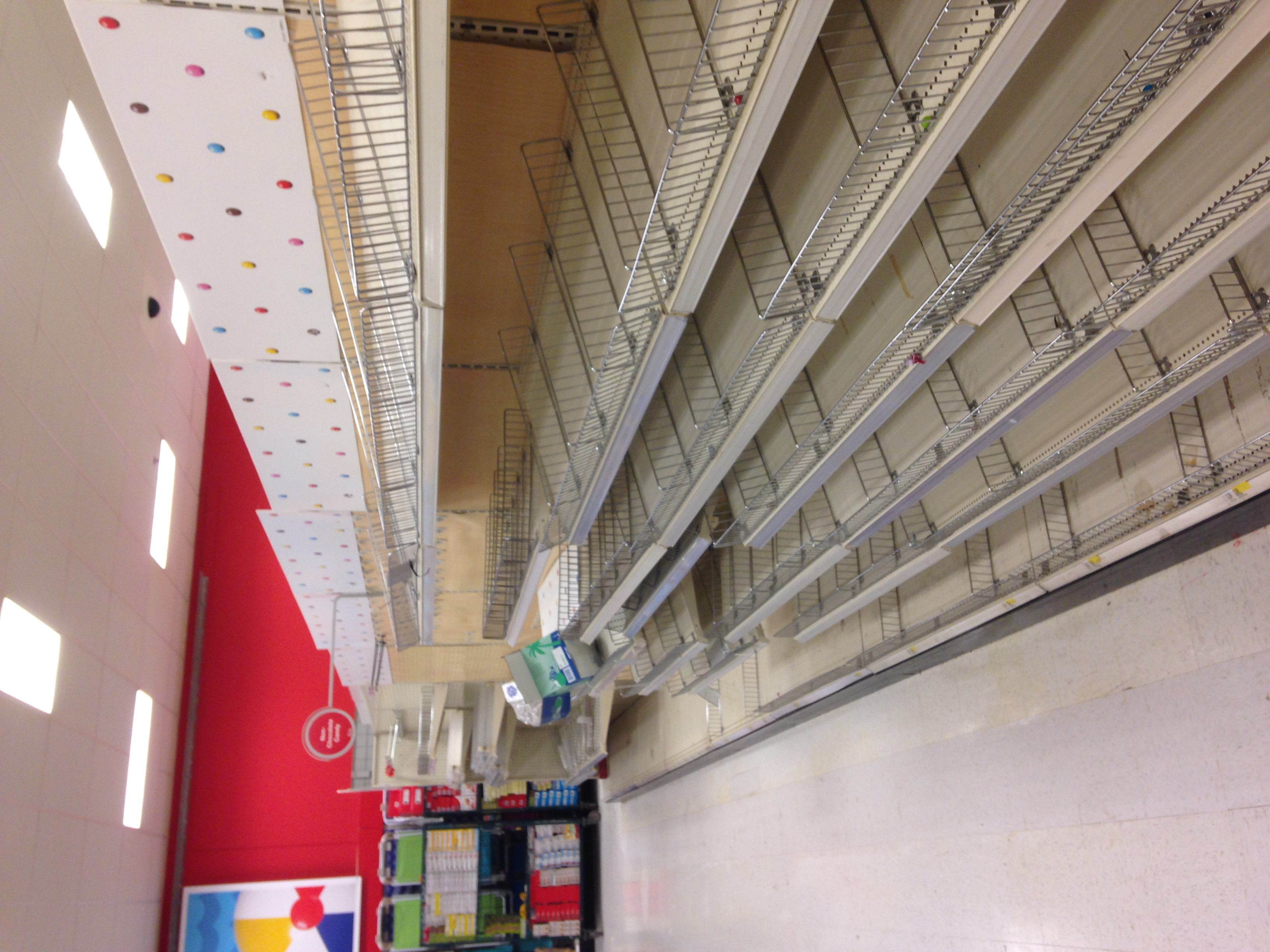 Big empty aisle. I wonder whats moving into it.