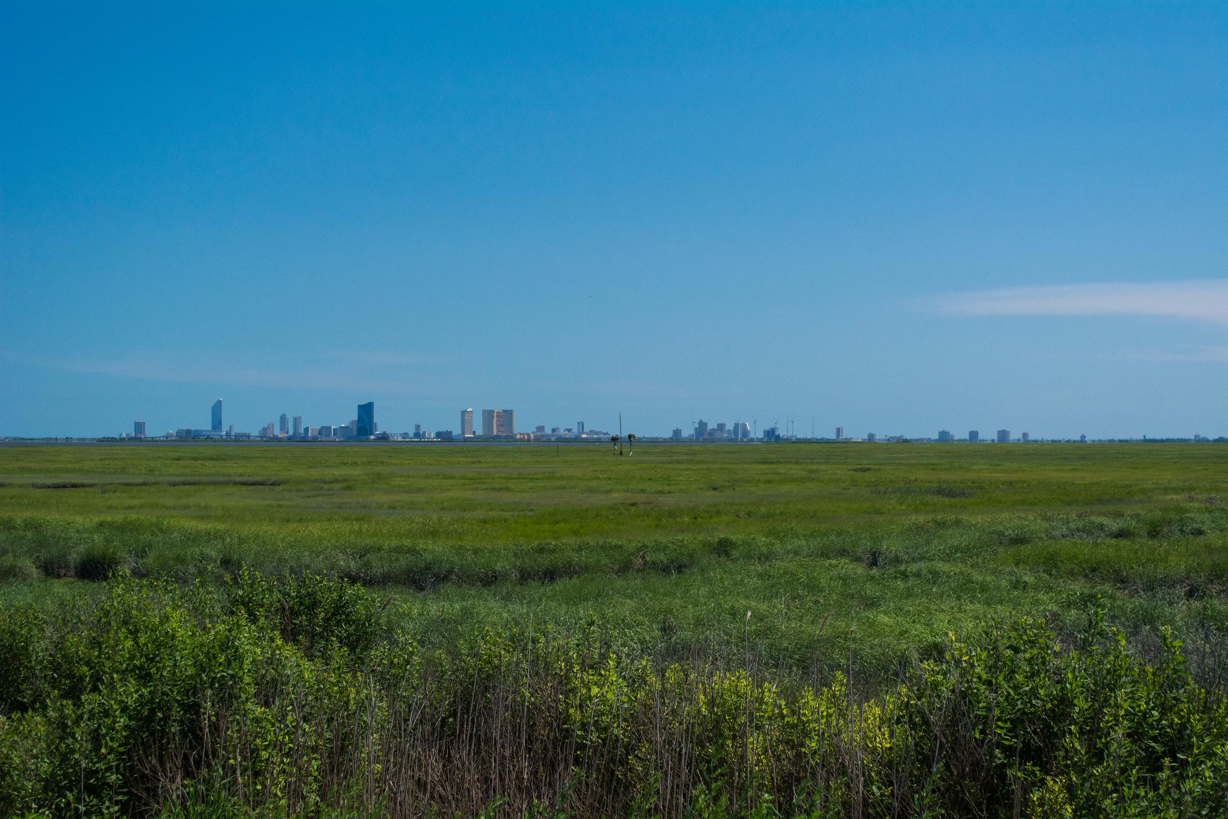 Atlantic City, NJ not to far from the refuge.