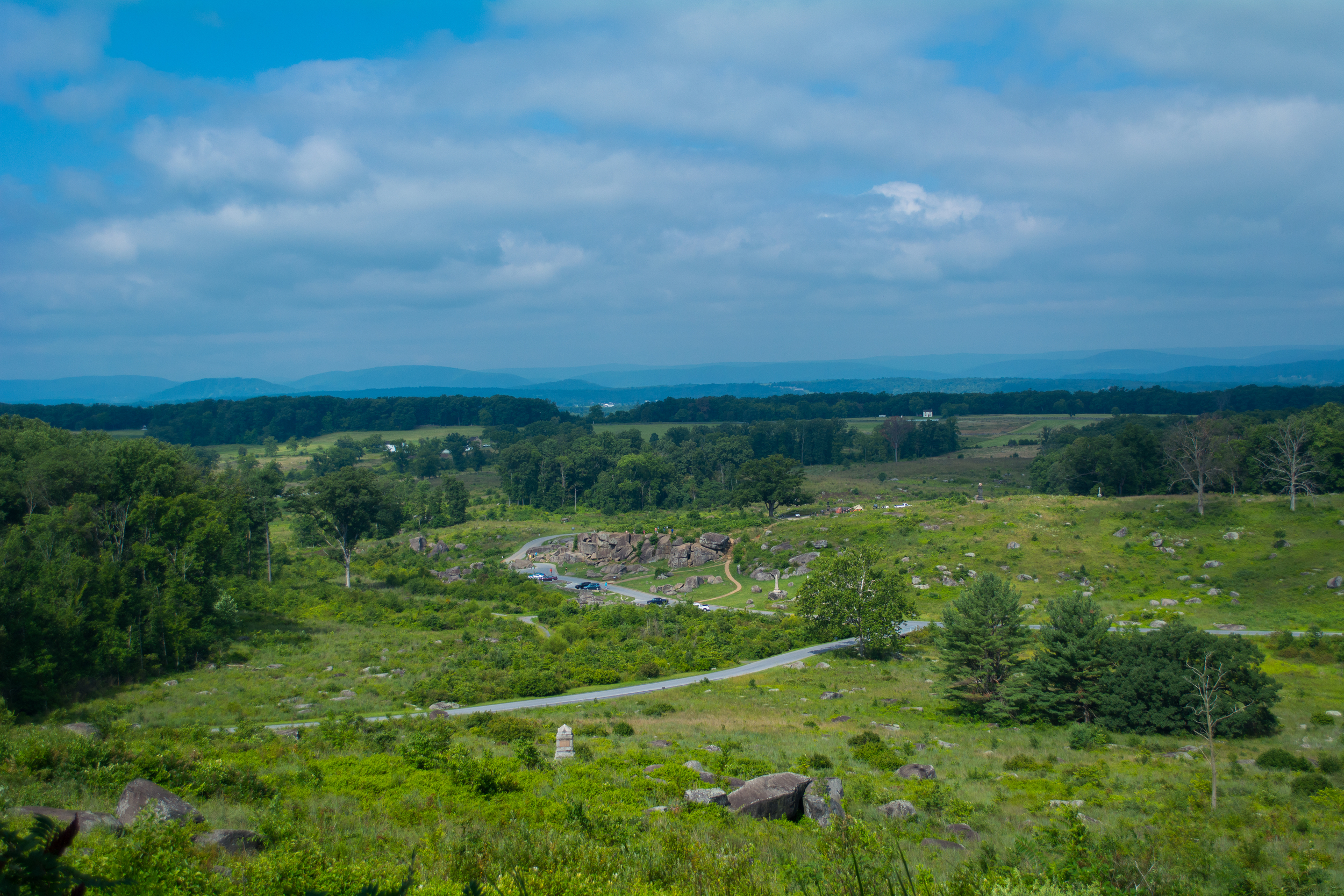 View of Devils Den from Little Round Top
