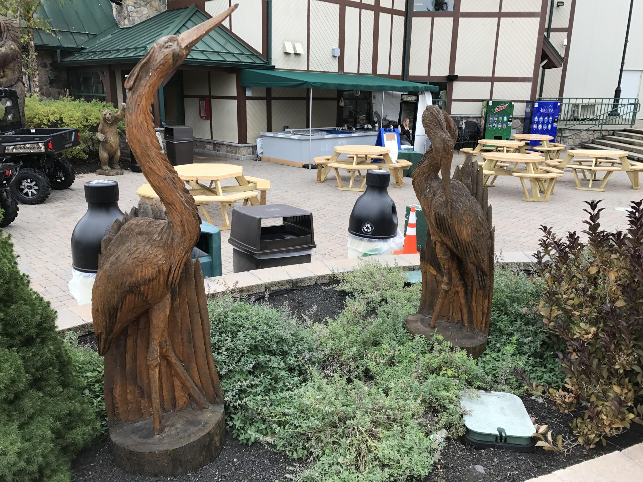Heron/Egret Wood Carving
