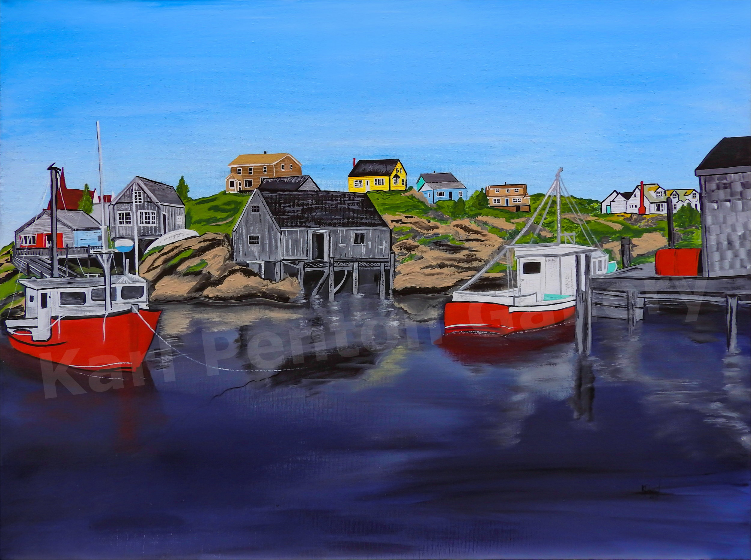 Peggy's Cove - (Original found in The Karl Penton Gallery)