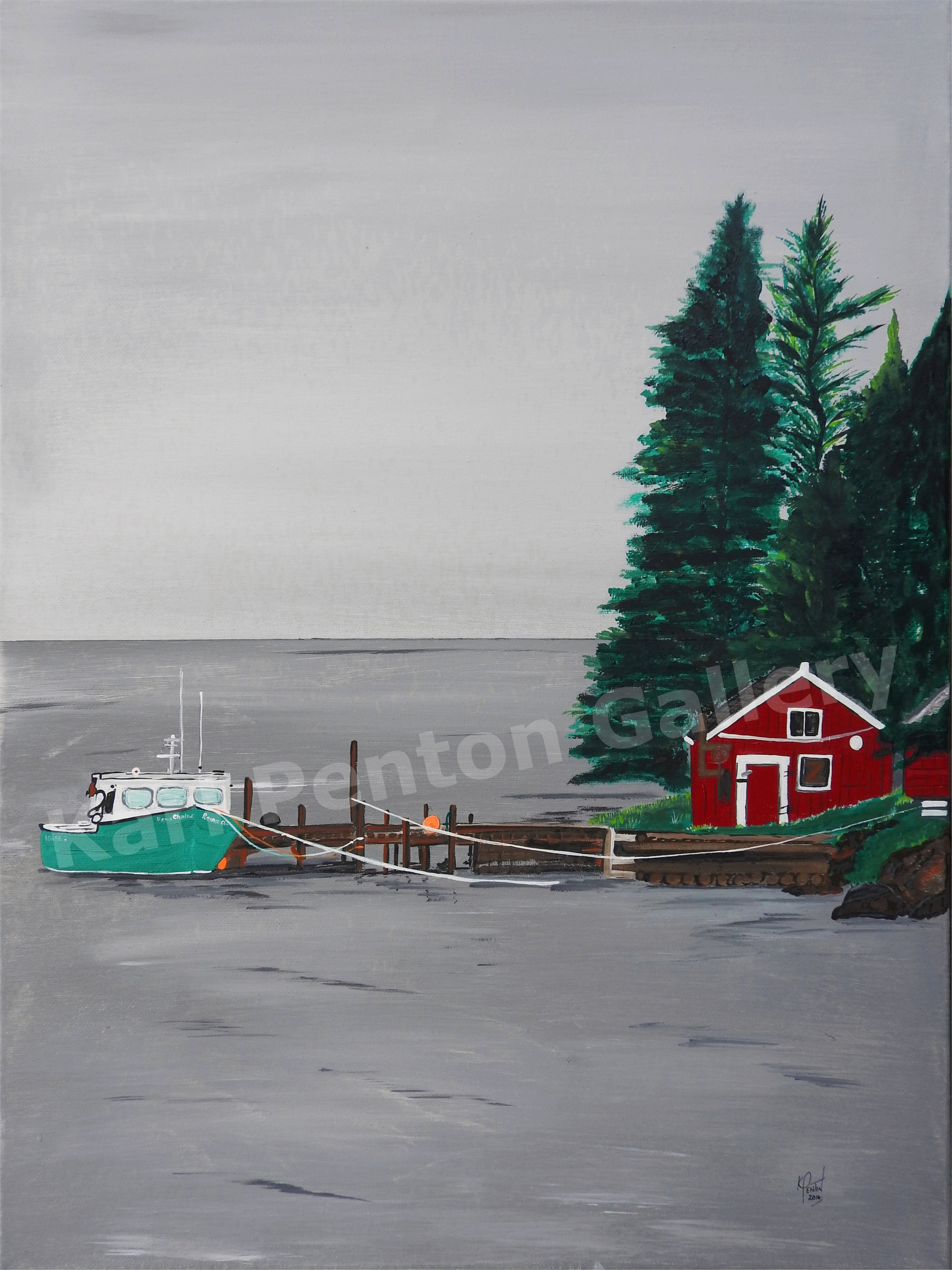 Port Dufferin - Drive past this beautiful property in Port Dufferin, Nova Scotia and you cannot help but pull over and gaze at what is before you.The second Karl saw this, he pictured a painting.(Original In Private Collection)