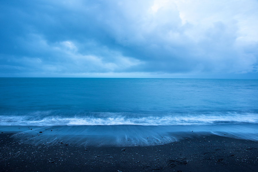 Photograph by  Dave Morrow  'Black + Blue, Vik, Iceland'