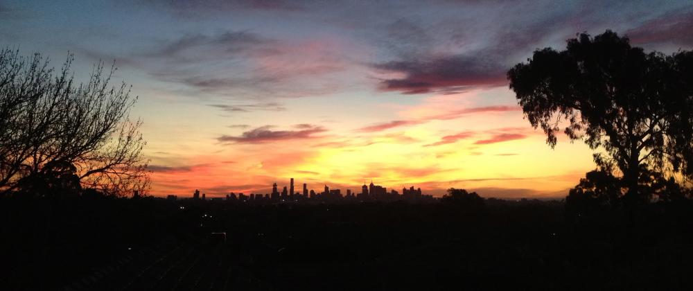 Sunset over Melbourne in June
