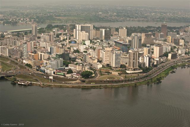 An Aerial of Abidjan's City Center  Image Credit: Cedric Favero