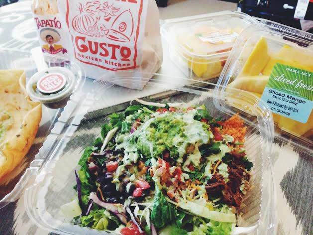 Special deliveries: Mucho Gusto taco salad & fresh fruits from Candace!