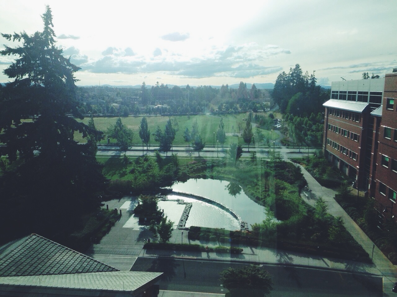 The gorgeous view from our hospital room.