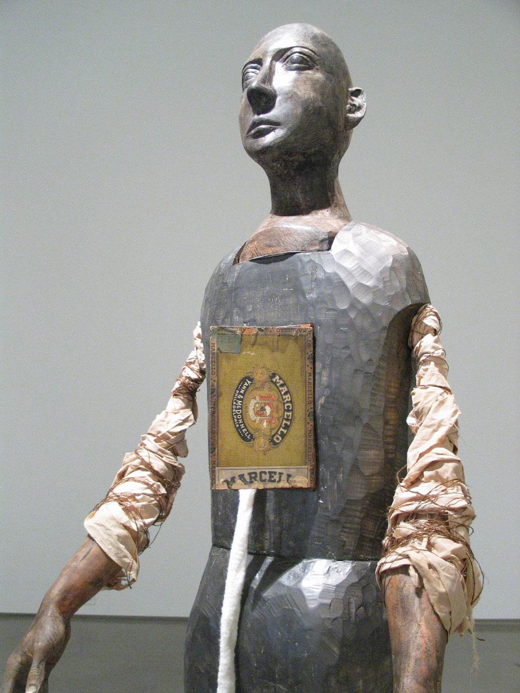 Intus, Figure Detail. Wood, Sewn Fabric, Plaster and Felt.