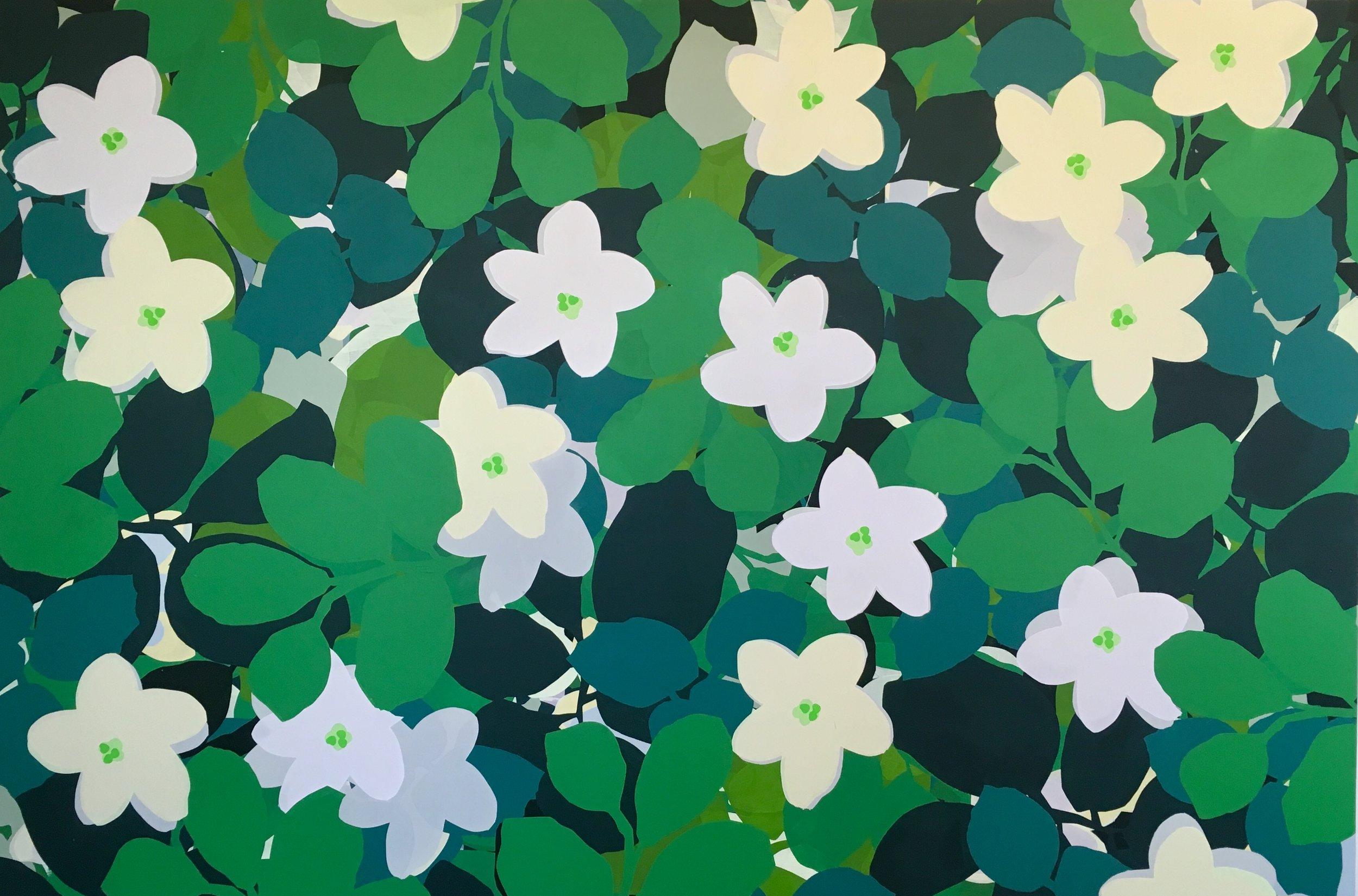 """Jasmine. 2017. Acrylic on Panel. 40"""" x 60"""""""