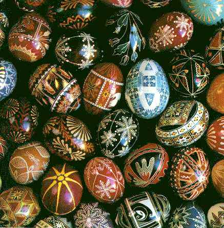 Ukrainian eggs that I love but can't actually make. Image provided by  Carl Fleischhauer, Library of Congress