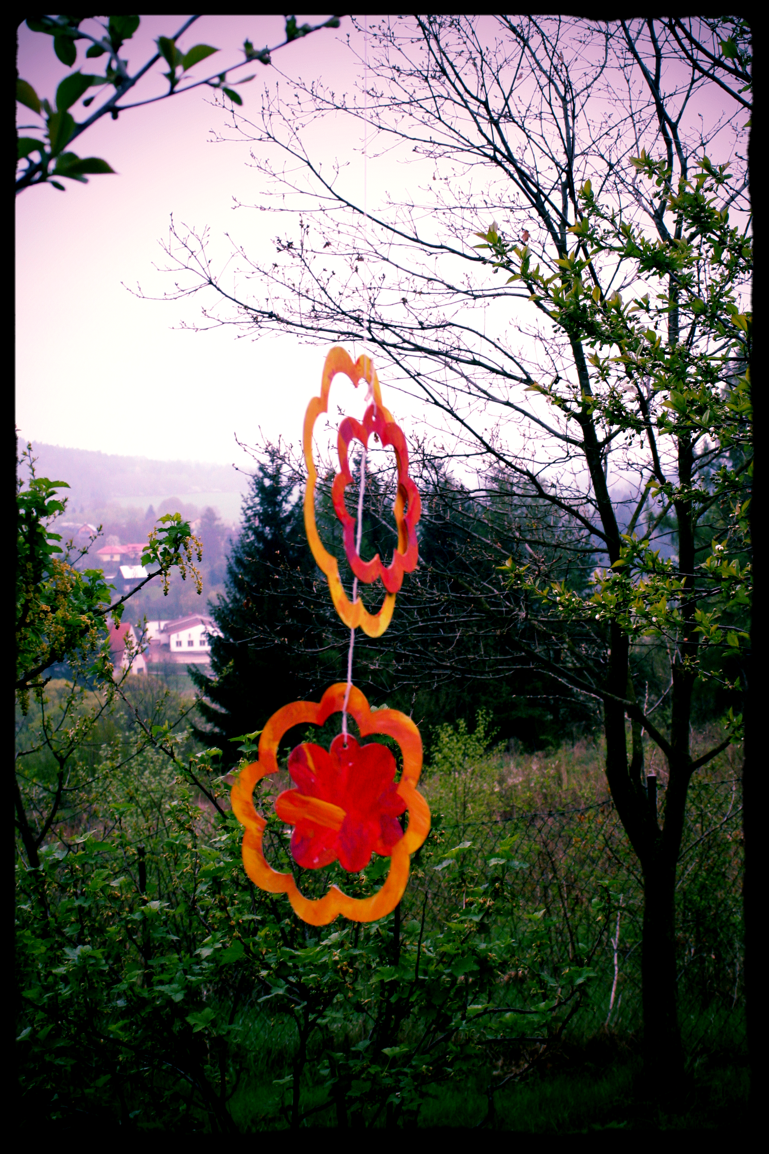 Children's Beltane decorations
