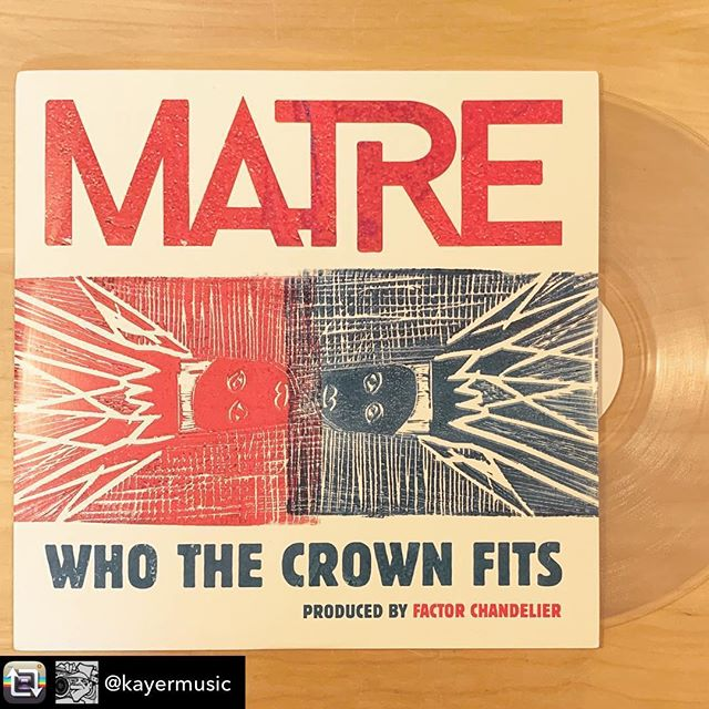 🤝🙏🏻〰️ Repost from @kayermusic using @RepostRegramApp - Congrats on this beautiful wax @matremusic & @factorchandelier really elevated an original style on these works. Lots of live instruments and back up vocals by guests. Mastered by Deeskee @weightless_audio_productions & pressed on clear 180g by @royalmintrecords get your copy . #matre #matremusic #la2thebaycrew #whothecrownfits #7billioncrowns #wax #royalmintrecords #factorchandelier #vinyl #hiphopculture #hiphopvinyl #hiphoptapes