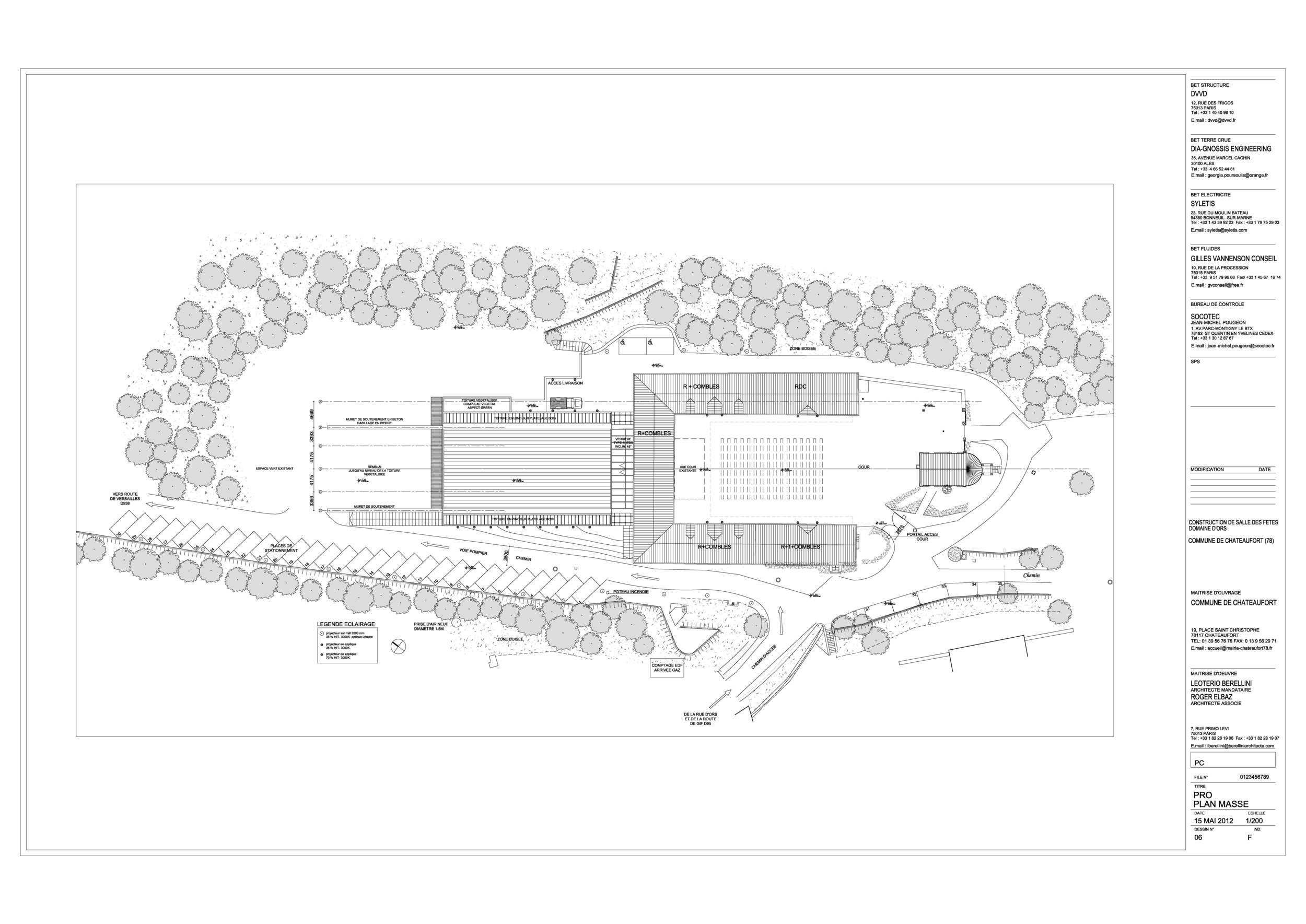 Châteaufort - Salle de spectacle - Concours Lauréat